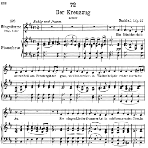 Der Kreuzzug D.932,  Low Voice in D Major, F. Schubert | eBooks | Sheet Music