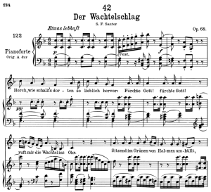 Der Wachtelschlag D.742,  Low Voice in E-Flat Major, F. Schubert | eBooks | Sheet Music