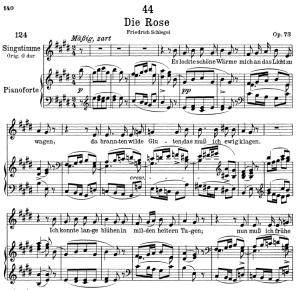Die Rose D.745,  Low Voice in E Major, F. Schubert | eBooks | Sheet Music