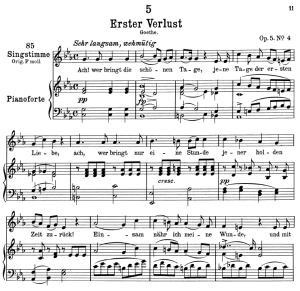 Erster verlust D.226,  Low Voice in C minor, F. Schubert | eBooks | Sheet Music
