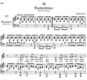 Fischerweise D.881,  Low Voice in C Major, F. Schubert   eBooks   Sheet Music