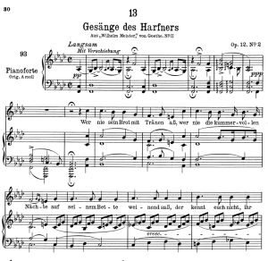 Gesänge des Harfners D.478-2,  Low Voice in F minor, F. Schubert | eBooks | Sheet Music
