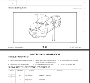 2016  nissan nv200  taxi  m20 service repair manual & wiring diagram