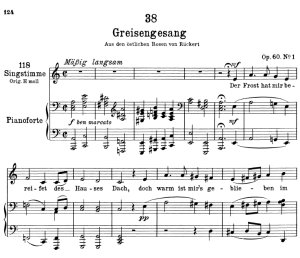 Greisengesang D.778,  Low Voice in A minor, F. Schubert | eBooks | Sheet Music