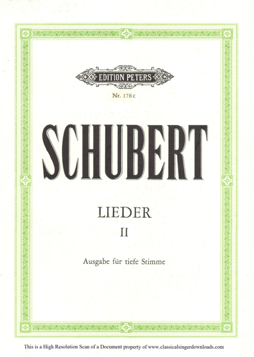 First Additional product image for - Im Frühling D.882,  Low Voice in D Major, F. Schubert.