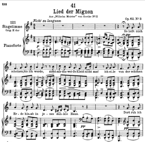 "Lied der Mignon D.877-3 ""So lasst mich scheinen"",  Low Voice in G Major, F. Schubert 