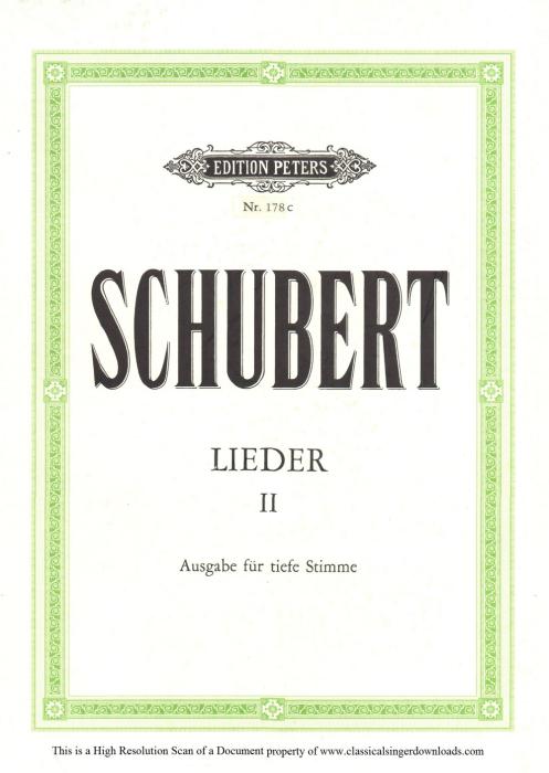 First Additional product image for - Lied des gefangenen Jäger's D.843,  Low Voice in C minor, F. Schubert