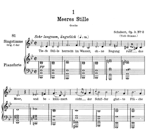 Meeres stille D.216 in B Flat Major,  Low Voice in B-Flat Major, F. Schubert. | eBooks | Sheet Music
