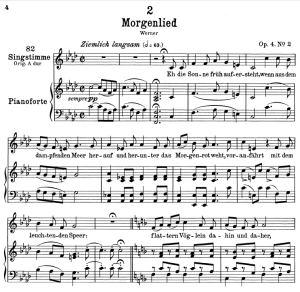 Morgenlied D.685,  Low Voice in F minor, F. Schubert. Transposition for Low Voice | eBooks | Sheet Music