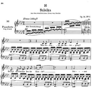 Suleika I D.720,  Low Voice in F minor, F. Schubert | eBooks | Sheet Music