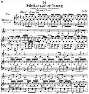 Suleika II D.717,  Low Voice in F Major, F. Schubert | eBooks | Sheet Music