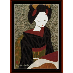 Maiko Kyoto - Asian Art cross stitch pattern by Cross Stitch Collectibles | Crafting | Cross-Stitch | Wall Hangings