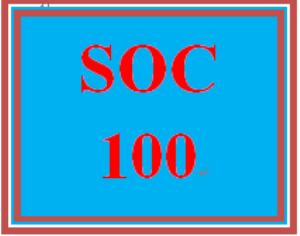 SOC 100 Week 5 Technology and Social Change | eBooks | Education
