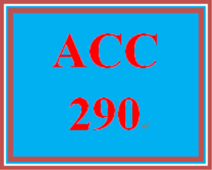 ACC 290 Week 3 Practice Quiz | eBooks | Education