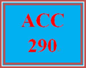 ACC 290 Week 5 Practice Quiz | eBooks | Education