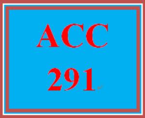 ACC 291 Week 4 Practice Quiz | eBooks | Education