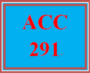 ACC 291 Week 5 Financial Reporting Problem II | eBooks | Education