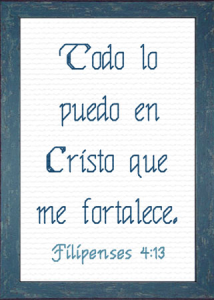 Fortalece | Crafting | Cross-Stitch | Religious