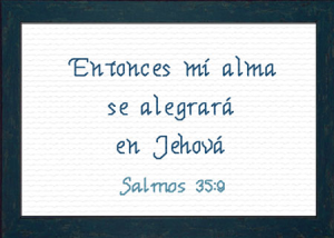 Alegrara en Jehova | Crafting | Cross-Stitch | Religious