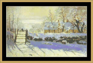 Magpie - Monet | Crafting | Cross-Stitch | Wall Hangings
