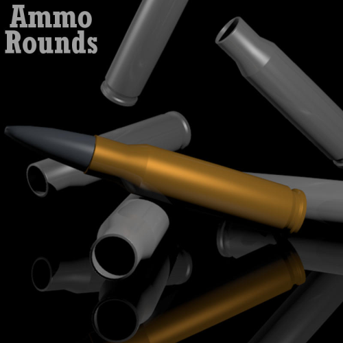 First Additional product image for - AMMO ROUNDS for Game Dev (BLEND, DAE, FBX, OBJ)