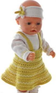 DollKnittingPatterns 0169D ALICE - Skjørt, genser, truse, hårbånd og sokker-(Norsk) | Crafting | Knitting | Other