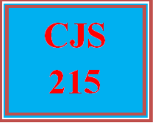 CJS 215 Entire Course | eBooks | Education