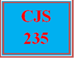 CJS 235 Entire Course | eBooks | Education