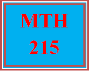 MTH 215 Week 5 Study Plan for Final Examination | eBooks | Education