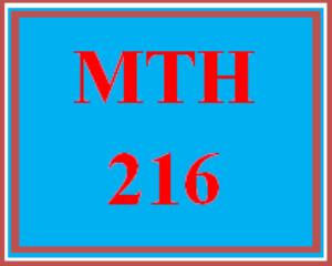 MTH 216 Week 1 MyMathLab® Week 1 Checkpoint | eBooks | Education