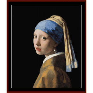 Girl with Pearl Earring, 2nd Ed. - Vermeer cross stitch pattern by Cross Stitch Collectibles | Crafting | Cross-Stitch | Wall Hangings
