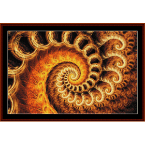 fractal 610 cross stitch pattern by cross stitch collectibles