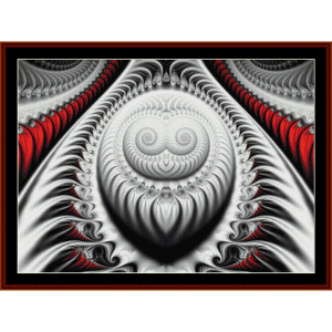 Fractal 612 cross stitch pattern by Cross Stitch Collectibles | Crafting | Cross-Stitch | Wall Hangings