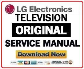 lg 55lk520 television original service manual + schematics