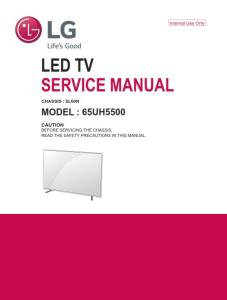 lg 65uh5500 television original service manual + schematics