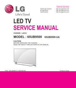 LG 65UB9500 Television Original Service Manual + Schematics | eBooks | Technical
