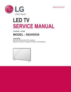 LG 50UH5530 Television Original Service Manual + Schematics | eBooks | Technical