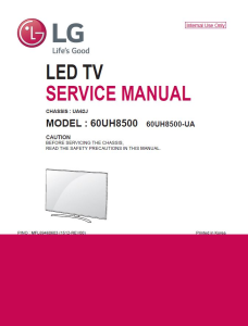 LG 60UH8500 Television Original Service Manual + Schematics | eBooks | Technical