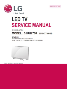 lg 60uh6150 television original service manual + schematics