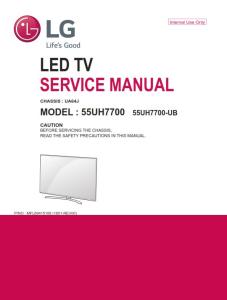 LG 60UH6150 Television Original Service Manual + Schematics | eBooks | Technical