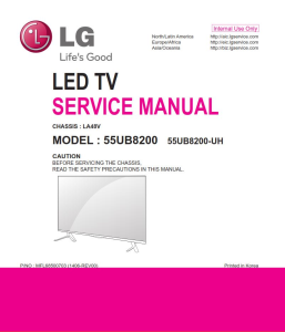 LG 55UB8200 UH LA48V chassis Television Original Service Manual + Schematics | eBooks | Technical