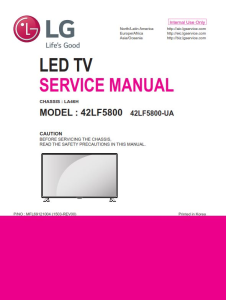LG 42LF5800 Television Original Service Manual + Schematics | eBooks | Technical