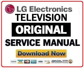 lg 42lb5600 television original service manual + schematics