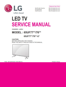 LG 65UF7700 65UF7690 65UF7650 4K Ultra HD Smart LED TV Original Service Manual + Schematics | eBooks | Technical