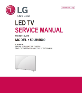 LG 50UH5500 Television Original Service Manual + Schematics | eBooks | Technical