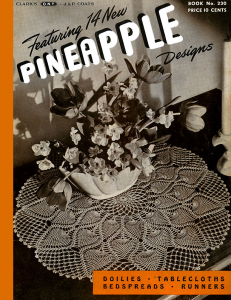new pineapple designs | book no. 230 | the spool cotton company digitally restored pdf