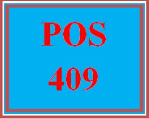POS 409 Week 2 Individual: Reflection | eBooks | Education