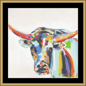 Long Horn | Crafting | Cross-Stitch | Wall Hangings