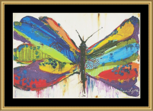 Fancy Butterfly | Crafting | Cross-Stitch | Wall Hangings