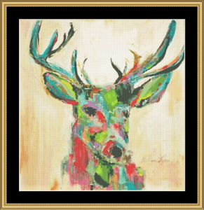Deer I | Crafting | Cross-Stitch | Wall Hangings